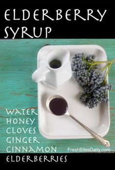 Homemade Elderberry Syrup | Fresh Bites Daily. Can simmer in crockpot 12-18 hours.