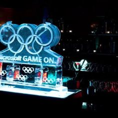 Olympic themed Ice Luge. Can be designed for any theme. Great for private, social, corporate and charity events! For pricing contact: Andrea@eventservicesofamerica.com