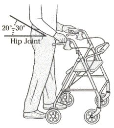 How to measure for a rollator. Pinned by pttoolkit.com your source for geriatric physical therapy resources.
