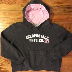 Aeropostale Hoodie Aeropostale hoodie with pink accents & kangaroo pouch! Aeropostale Tops Sweatshirts & Hoodies