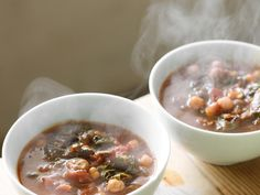 Chickpea, chard and porcini soup