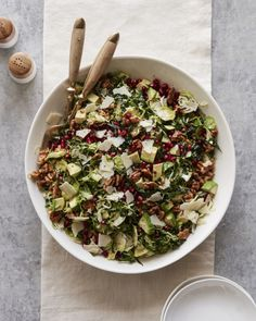 STYLECASTER | Winter Salads | Winter Salad Recipes | Shredded Brussels Sprouts Salad