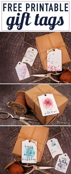 OMG, these printable gift tags are GORGEOUS! And they are free! Grab your free printable gift tags now--just click on this pin.