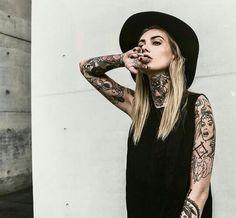 Sexy boho tattoo girl