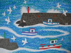 Naive Artists | Amanda White - Contemporary Naive Art: Wild Weather Blowing In