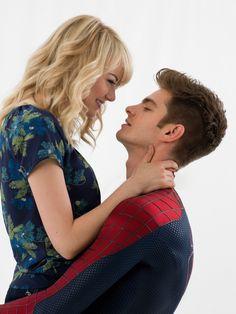 The Amazing Spiderman 2: Andrew Garfield & Emma Stone.
