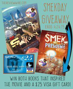 Smekday Book Series   $25 Visa Card GIVEAWAY! Ends 4.24.15