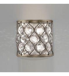 Feiss Lucia 1 Light Wall Bracket in Burnished Silver WB1497BUS #lightingnewyork #lny #lighting