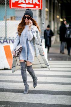 Уличная мода: Неделя моды в Нью-Йорке сезона осень-зима 2016-2017: уличная мода