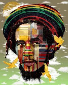 Bob Marley Legend, Bob Marley Art, 3 Little Birds, Famous Legends, Prince Eric, Black Art, Reggae, Thinking Of You, The Past