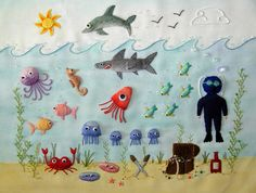 Bordado 3d  Under the Sea by flossbox, via Flickr