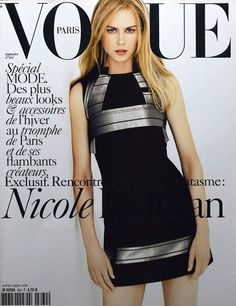 Film and the covers of Vogue Paris: Nicole Kidman on the September 2005 cover of Vogue Paris