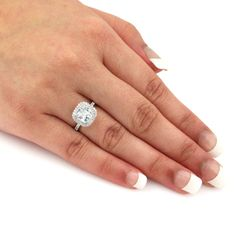 Auriya 14k Gold 1 3/4ct TDW Certified Diamond Double Halo Engagement Ring (H-I, SI1-SI2)   Overstock.com