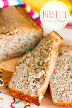 Funfetti Banana Bread at http://therecipecritic.com  Add a little fun to your banana bread!  This is incredibly easy and a great way to use up those over ripe bananas!