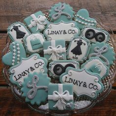 Breakfast at Tiffany's Cookies by TheTreatsbyTrishShop on Etsy https://www.etsy.com/listing/258680774/breakfast-at-tiffanys-cookies
