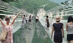The World's Most Incredible Glass Bottom Bridge Opening
