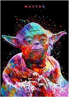 MA S T E R - Yoda portrait Print: https://www.curioos.com/product/Print/master  Check Out http://stuffnerdslike.tv/
