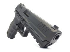 HK P30 LS - A nice 9mm polymer gun with ambidextrous slide release, mag release & Thumb Safety. We like it!!
