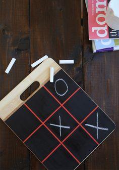 @iVillage #holiDIY Gift Ideas: DIY Chalkboard Tic Tac Toe Game | Say Yes to Hoboken