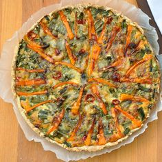 Two Peas and A Carrot Spring Tart vegan, plantbased, earth balance, made just right