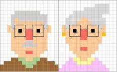 Coding Unplugged e Pixel Art: le schede e il biglietto di auguri per la festa dei nonni - Maestro Alberto Ciphers And Codes, Art Festa, Collages, Pixel Art, Coding For Kids, C2c, Graphic, Perler Beads, Illustration