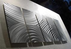 "64"" METAL WALL DECOR CONTEMPORARY MODERN WALL ABSTRACT 