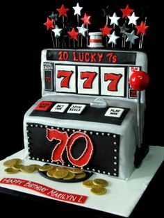 sweet and silly gumball slot machine party favors perfect for any casino themed event, las vegas wedding or birthday party. Mother Birthday, 75th Birthday, Birthday Cakes, Grandma Birthday, Birthday Ideas, Birthday Parties, Birthday Celebration, Birthday Blast, Unicorn Birthday