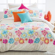 Bring a little Spring back into your Winter with our Cross Stitch Floral Quilt Cover by Esprit. - Pillow Talk