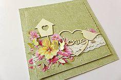Papiernictvo - pohľadnica s vtáčikom - 6485132_