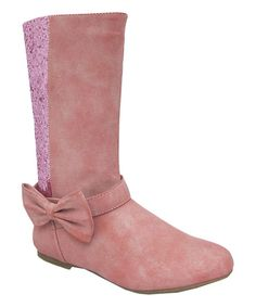 Look at this Pink Trishia Bow Boot on #zulily today!