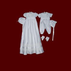We love these christening outfits made from a wedding dress!