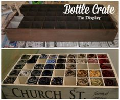 Upcylce: Bottle Crate Turned Tie Organizer DIY