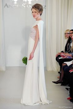 Angel Sanchez wedding dress with cape - the right bride could absolutely pull this off