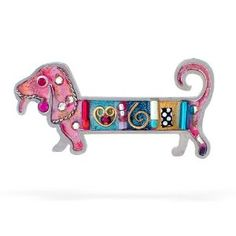 Pink Dachshund Dog Pin
