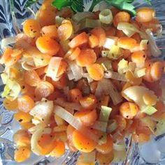 Sauteed Carrots and Leeks