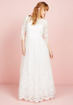 Sophisticated Ceremony Maxi Dress in White, #ModCloth