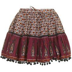TOPSHOP Paisley Print Mini Skirt (90 CAD) ❤ liked on Polyvore featuring skirts, mini skirts, skirts/shorts, multi, patterned mini skirt, short skirts, short cotton skirts, boho skirt and short summer skirts