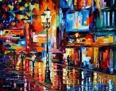 DOWNTOWN LIGHTS - PALETTE KNIFE Oil Painting On Canvas By Leonid Afremov http://afremov.com/DOWNTOWN-LIGHTS-PALETTE-KNIFE-Oil-Painting-On-Canvas-By-Leonid-Afremov-Size-30-x24.html?utm_source=s-pinterest&utm_medium=/afremov_usa&utm_campaign=ADD-YOUR