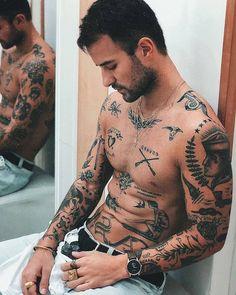 tattoo sleeve men old school / tattoo sleeve men ; tattoo sleeve men old school ; Tattoos Torso, Boy Tattoos, Trendy Tattoos, Black Tattoos, Tattoos For Guys, Sleeve Tattoos, Tatoos, Tattoo Guys, Popular Tattoos