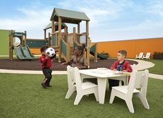 Union Rescue Mission Rooftop Playground Outdoor Furniture Sets, Outdoor Decor, Playgrounds, Picnic Table, Thesis, Nursery Ideas, Rooftop, Outdoor Gardens, Outdoor Living