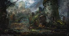 Medieval Stronghold, Karl Fitzgerald on ArtStation at https://www.artstation.com/artwork/medieval-stronghold-867195b1-1c3d-4cf9-929b-3e1ded7b0636