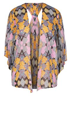 City Chic - FESTIVAL DAYS KIMONO JACKET - Women's Plus Size Fashion