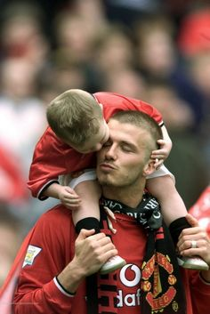 David Beckham and son
