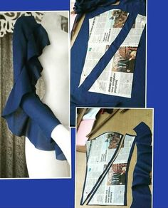 Sewing Darts - Step by Step Easy Tutorial Sleeves Designs For Dresses, Sleeve Designs, Blouse Designs, Fashion Sewing, Diy Fashion, Sewing Sleeves, Look Formal, Modelista, Der Arm