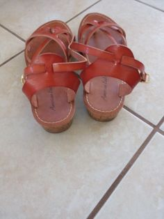 736a4cdc8288 Ladies American Eagle Brown Sandals Size 7  fashion  clothing  shoes   accessories