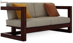 Skyler Wooden Sofa Sets (Mahogany Finish)-2