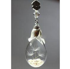Ketten kurz - Löwenzahn Same in Glas, silberne Kette - ein Designerstück von BuyMyBaby bei DaWanda