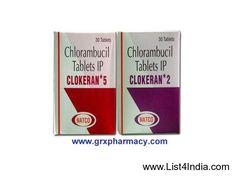 Clokeran (Chlorambucil Tablet) - List4India.com %u2776 India Free Classifieds, No registration.