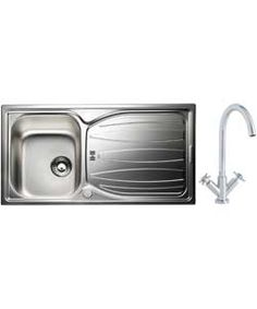 Phlox Luxury Kitchen Sink with 1.0 Bowl and Dual Handle Tap.