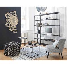 Scaffale porta-TV nero in metallo | Maisons du Monde